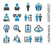 businessman icon set | Shutterstock .eps vector #1020743017