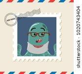 Octopus Monster Postage Stamp...