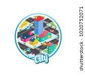 big city isometric real estate...   Shutterstock .eps vector #1020752071