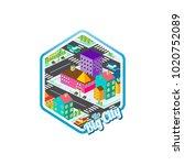 big city isometric real estate...   Shutterstock .eps vector #1020752089