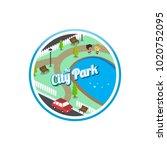 big city isometric real estate...   Shutterstock .eps vector #1020752095