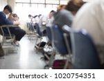 blur focus.back view abstract... | Shutterstock . vector #1020754351