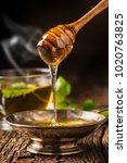 honey. honey and honey dipper... | Shutterstock . vector #1020763825