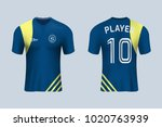 3d realistic of front and back... | Shutterstock .eps vector #1020763939