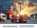 logistics and transportation of ...   Shutterstock . vector #1020765025