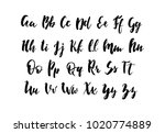 handwritten alphabet. hand... | Shutterstock .eps vector #1020774889
