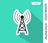 antenna icon vector symbol on... | Shutterstock .eps vector #1020780055