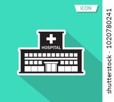 hospital icon cross building... | Shutterstock .eps vector #1020780241