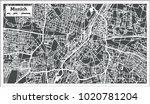 munich germany city map in... | Shutterstock . vector #1020781204
