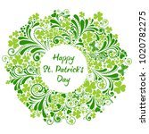 st patrick's day background.... | Shutterstock . vector #1020782275