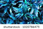 tropical leaf forest glow in... | Shutterstock . vector #1020786475
