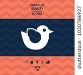 bird symbol icon | Shutterstock .eps vector #1020786937