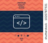 code editor icon | Shutterstock .eps vector #1020787531