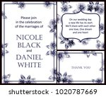 invitation with floral... | Shutterstock . vector #1020787669