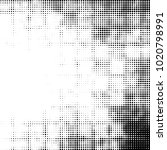 grunge halftone black and white ... | Shutterstock . vector #1020798991