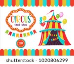 circus. the circus poster ... | Shutterstock .eps vector #1020806299