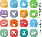 flat vector icon set   washing... | Shutterstock .eps vector #1020811939