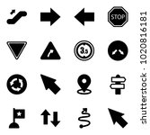 solid vector icon set  ... | Shutterstock .eps vector #1020816181