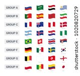 groups of championship 2018 in... | Shutterstock .eps vector #1020820729