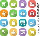 flat vector icon set   cart...   Shutterstock .eps vector #1020823285