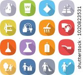 flat vector icon set   cleanser ... | Shutterstock .eps vector #1020823531