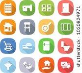 flat vector icon set   building ...   Shutterstock .eps vector #1020824971