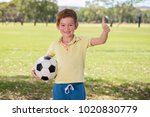 young little kid 7 or 8 years... | Shutterstock . vector #1020830779