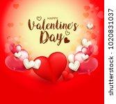 illustration of valentines day... | Shutterstock .eps vector #1020831037