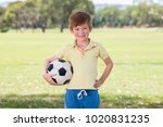 young little kid 7 or 8 years... | Shutterstock . vector #1020831235