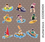 water sport stickers | Shutterstock .eps vector #102083404