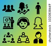people vector icon set... | Shutterstock .eps vector #1020838669