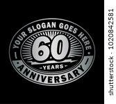 60 years anniversary....   Shutterstock .eps vector #1020842581