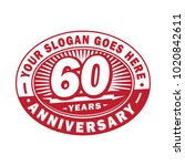 60 years anniversary....   Shutterstock .eps vector #1020842611