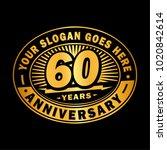 60 years anniversary....   Shutterstock .eps vector #1020842614