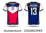 soccer jersey template.blue and ... | Shutterstock .eps vector #1020843985
