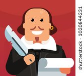 vector flat icon of william... | Shutterstock .eps vector #1020844231