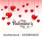 illustration of valentines day... | Shutterstock .eps vector #1020844645