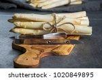 spring season  new harvest of... | Shutterstock . vector #1020849895