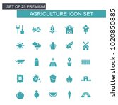 agriculture icons set vector    Shutterstock .eps vector #1020850885