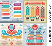 business infographic templates... | Shutterstock .eps vector #1020854299