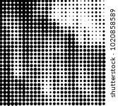 grunge halftone black and white ... | Shutterstock .eps vector #1020858589