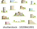 3d landscape of the city | Shutterstock .eps vector #1020861001