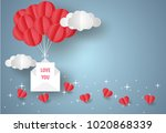 valentine's day concept.love... | Shutterstock .eps vector #1020868339