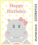 happy birthday card design.... | Shutterstock .eps vector #1020869101