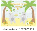 happy birthday card design.... | Shutterstock .eps vector #1020869119