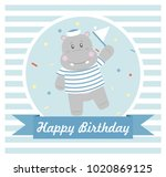 happy birthday card design.... | Shutterstock .eps vector #1020869125
