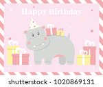 happy birthday card design.... | Shutterstock .eps vector #1020869131