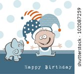 happy birthday elephant | Shutterstock .eps vector #102087259