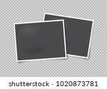 vector mock up of empty photo... | Shutterstock .eps vector #1020873781