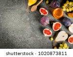 snacks  dietary vegan desserts. ... | Shutterstock . vector #1020873811